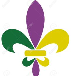 vector vector illustration of mardi gras fleur de lis [ 1117 x 1300 Pixel ]