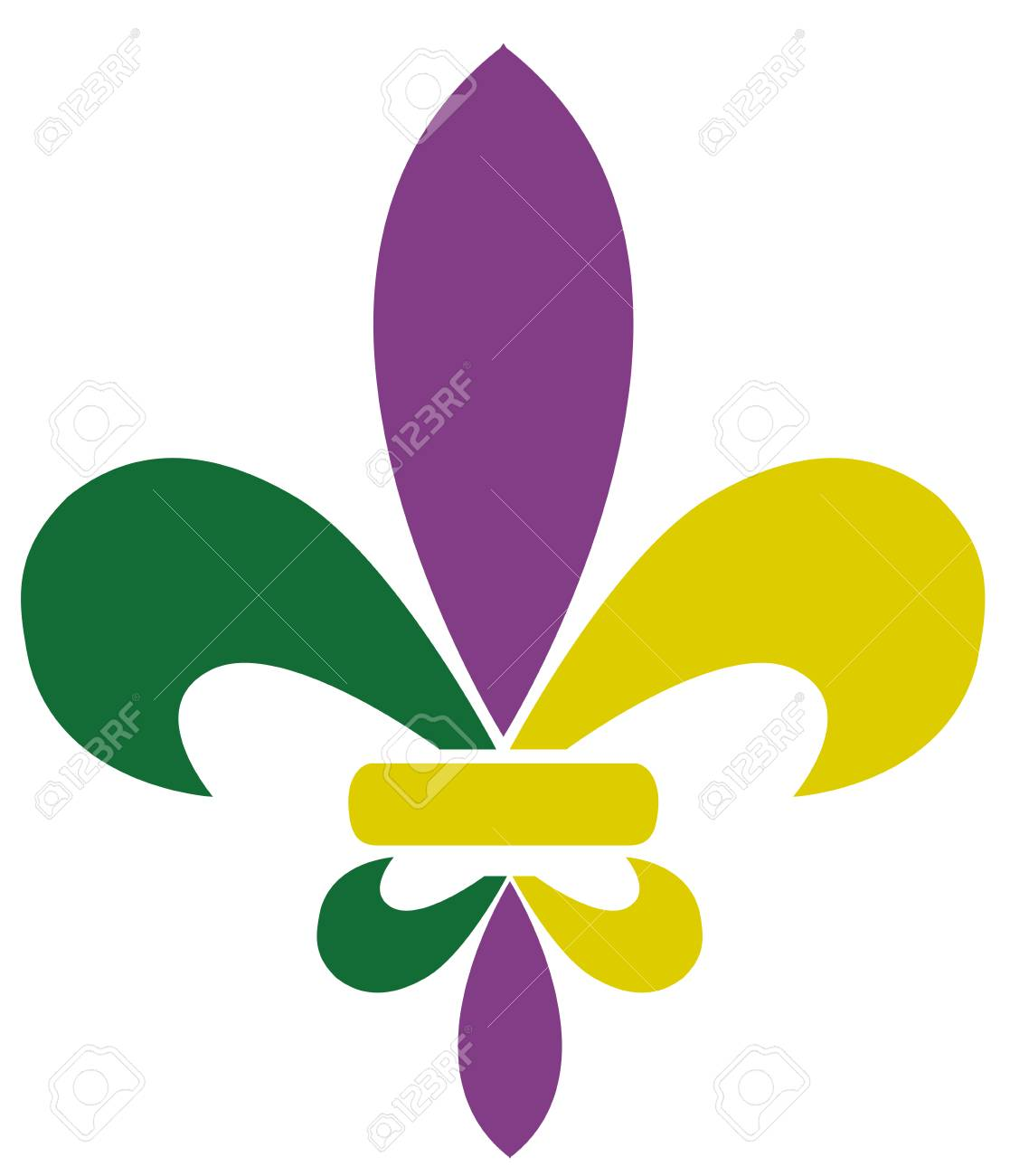 hight resolution of vector vector illustration of mardi gras fleur de lis