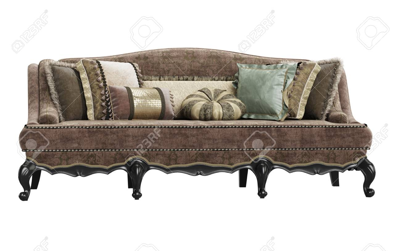 classic sofa alan white manufacturers on background 3d rendering stock photo picture 98042971