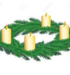 advent wreath with four candles stock vector 11533286 [ 1300 x 1103 Pixel ]