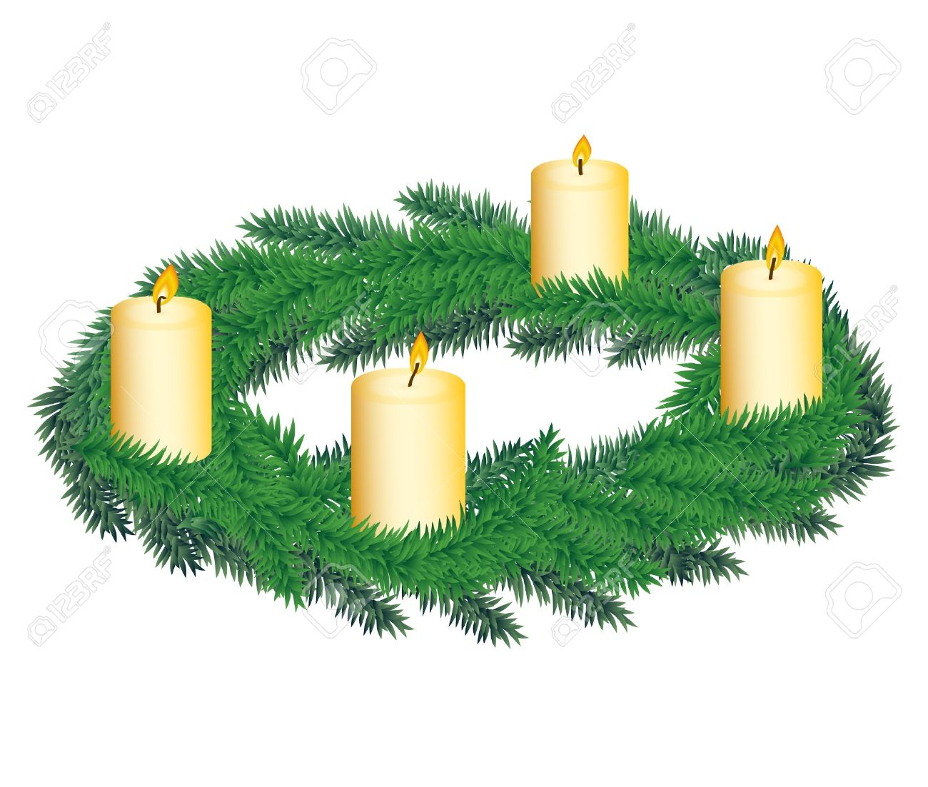 hight resolution of advent wreath with four candles stock vector 11533286