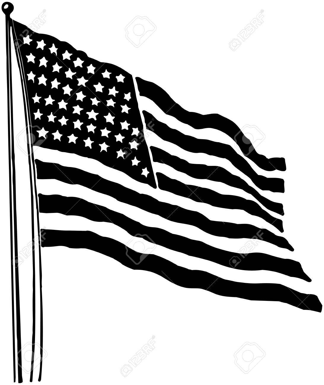 hight resolution of american flag stock vector 28332160