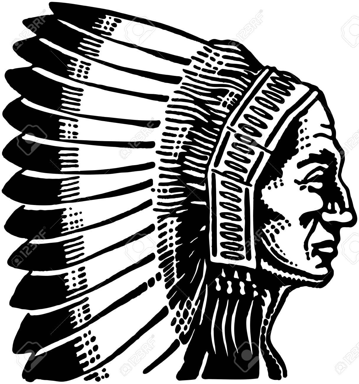 hight resolution of indian chief 2 stock vector 28340145