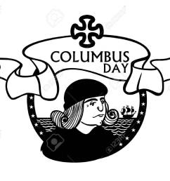 portrait of christopher columbus a stylized drawing of a hand the celebration of columbus [ 1300 x 1068 Pixel ]