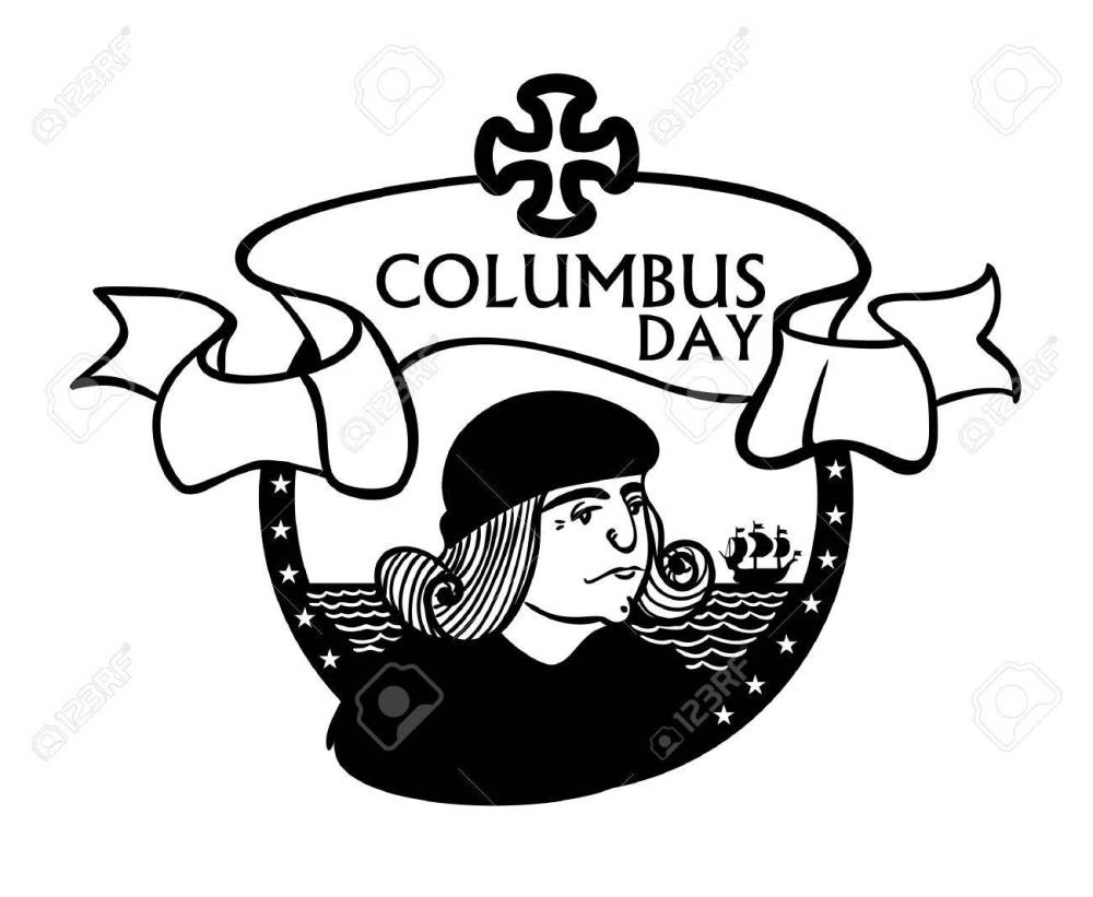 medium resolution of portrait of christopher columbus a stylized drawing of a hand the celebration of columbus