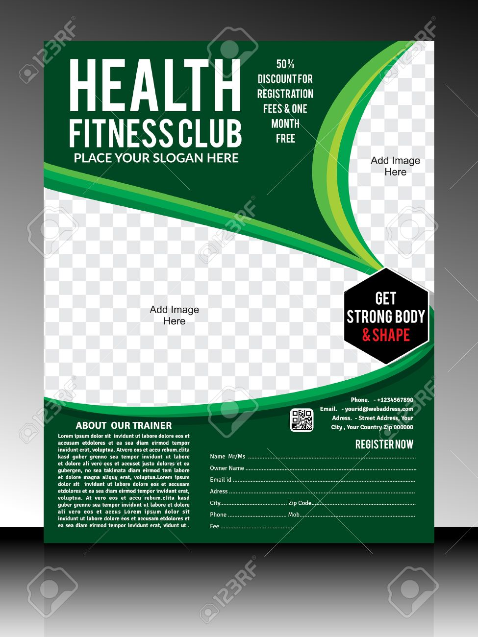 Gym Flyer Template Illustration Royalty Free Cliparts, Vectors, And ...