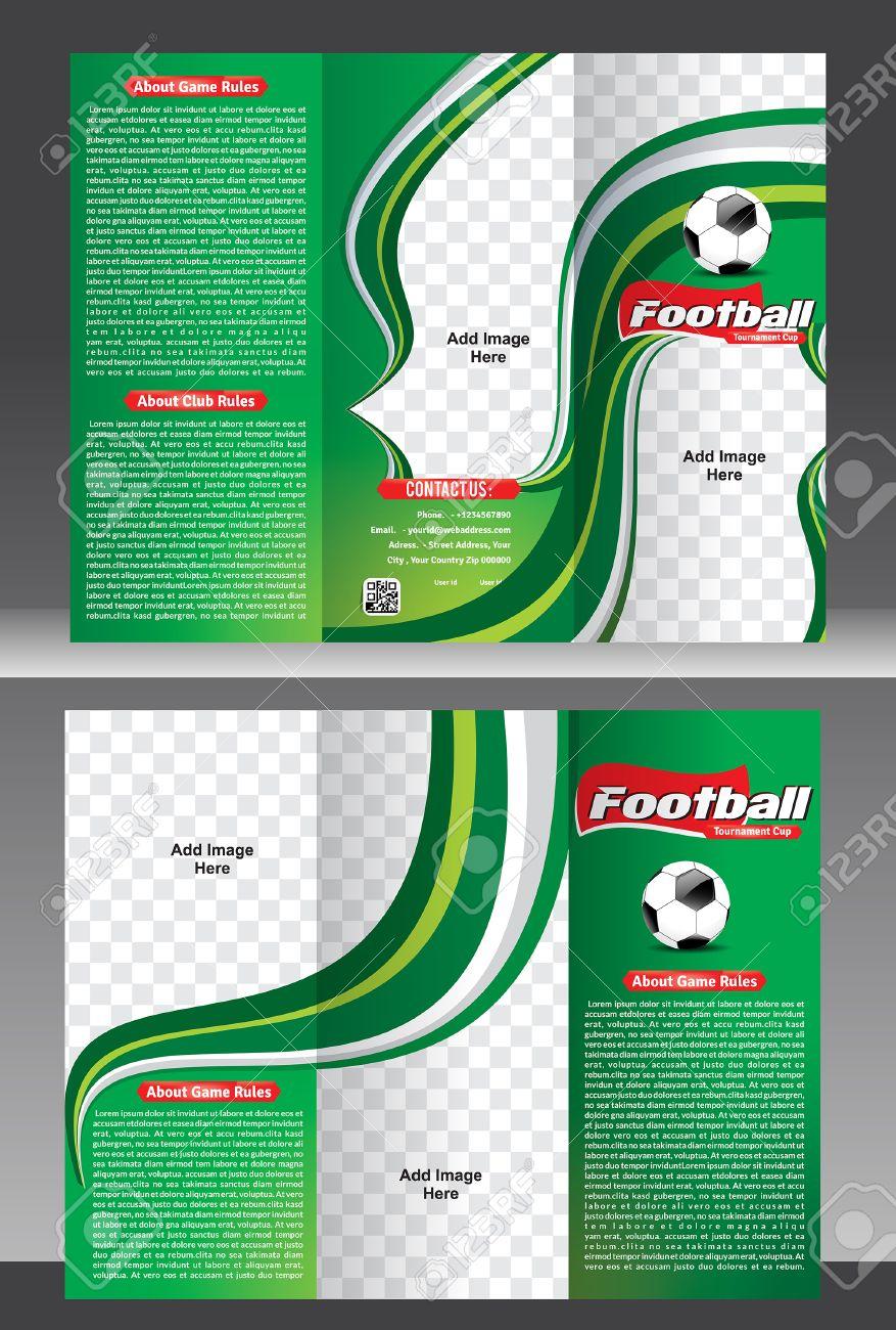 Tri Fold Football Tournament Brochure Template Vector Illustration Stock  Vector - 39437312