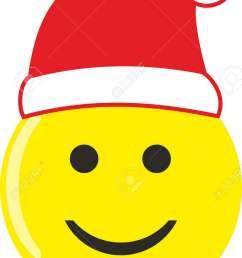 a smiley face with santa hat isolated on white stock vector 90880981 [ 873 x 1300 Pixel ]