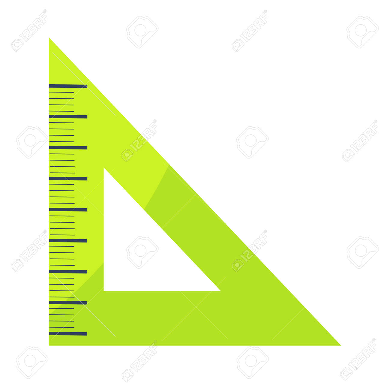 Triangular Shaped Green Ruler Vector Illustration Icon Isolated Stock Photo Picture And Royalty Free Image Image 90490781