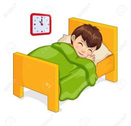 Sleeping Boy In Bed Made Of Wooden Material Room Of Child Clock Royalty Free Cliparts Vectors And Stock Illustration Image 112004226