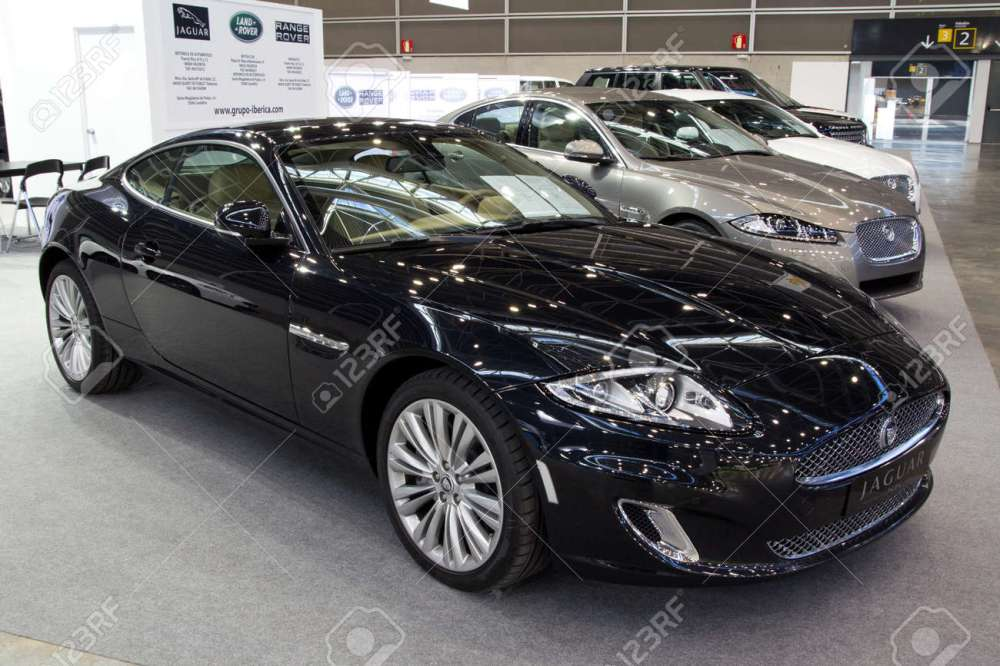 medium resolution of stock photo valencia spain december 5 a 2011 black jaguar xk 5 0 coupe at the 2011 valencia car show on december 5 2011 in valencia spain