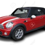Red Mini Cooper Convertible Car Parked Isolated On White Background Stock Photo Picture And Royalty Free Image Image 31006334