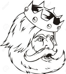 Head Of A King Black And White Illustration Royalty Free Cliparts Vectors And Stock Illustration Image 14744356