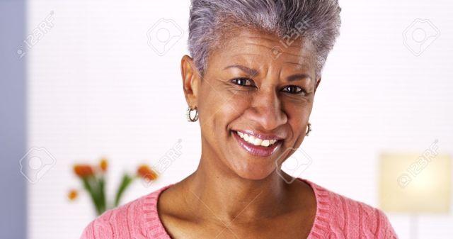 Mature Black Woman Laughing Stock Photo 33837935