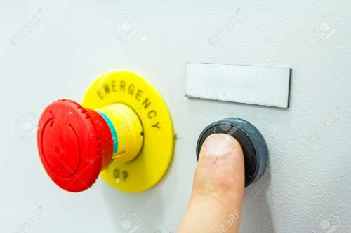 small resolution of reset fuse box with emergency red shutdown panic button stock