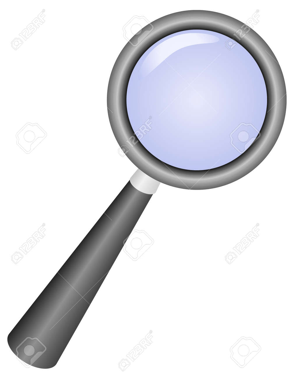 hight resolution of magnifying glass icon vector illustration stock vector 8911932