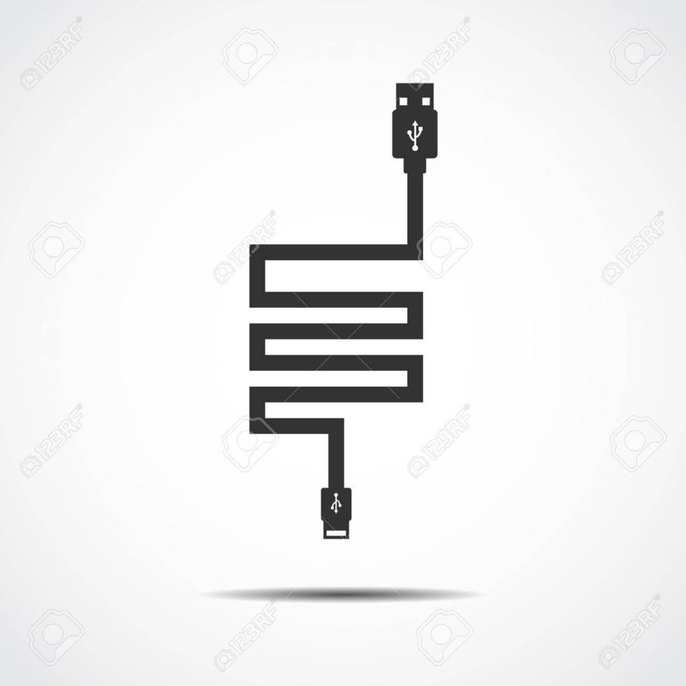 medium resolution of plug wire cable usb computer vector illustration stock vector 41732091
