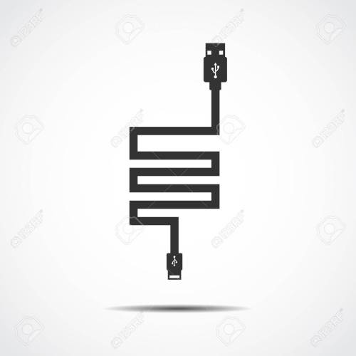 small resolution of plug wire cable usb computer vector illustration stock vector 41732091