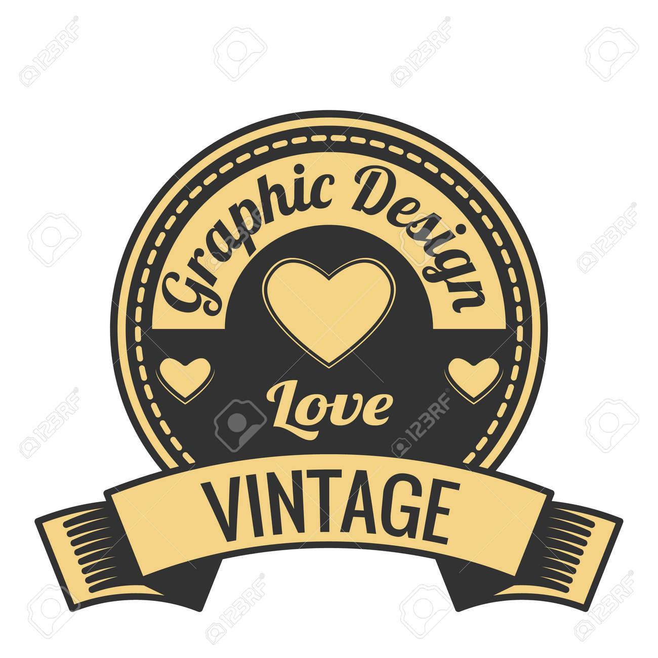vintage badge logo concept