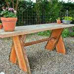 Beautiful Hand Made Craft Rustic Wooden Garden Table With Flowers Stock Photo Picture And Royalty Free Image Image 27473011