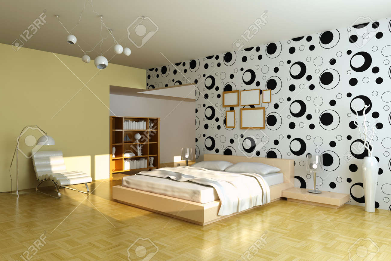 Modern Bedroom 3d Render I Am The Author Of Wallpaper Stock Photo Picture And Royalty Free Image Image 7162012