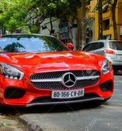 hanoi vietnam may 15 2015 mercedes benz sls amg car with open [ 1300 x 864 Pixel ]