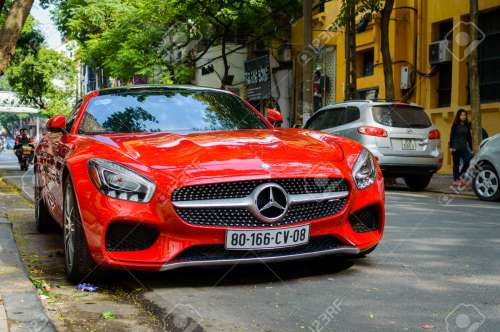 small resolution of hanoi vietnam may 15 2015 mercedes benz sls amg car with open