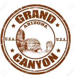 grunge rubber stamp with the name of the grand canyon from united states of america written [ 1300 x 1300 Pixel ]