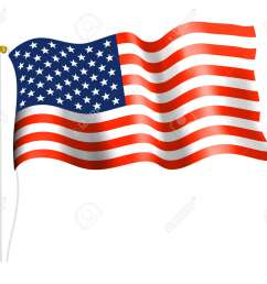 american flag on flag pole stock vector 31062306 [ 1300 x 1106 Pixel ]