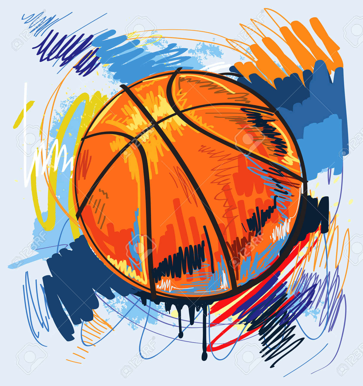 basketball design color background