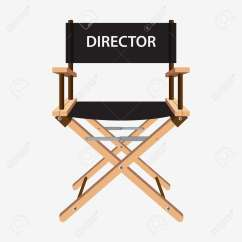 Directors Chair White Baby High Chairs Argos Film Director Wooden Movie Vector Illustration Isolated On Background