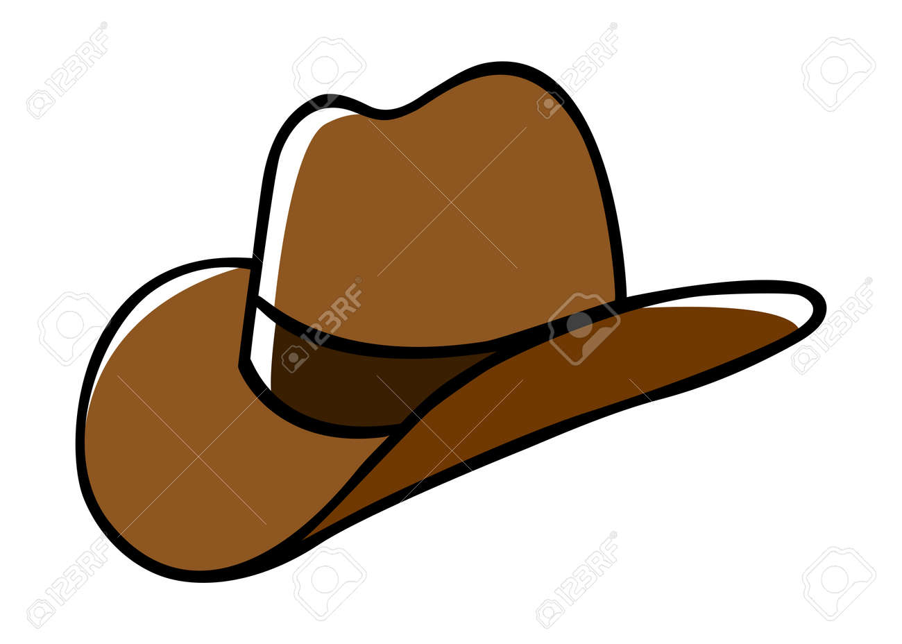 hight resolution of doodle illustration of a cowboy hat stock vector 36752908