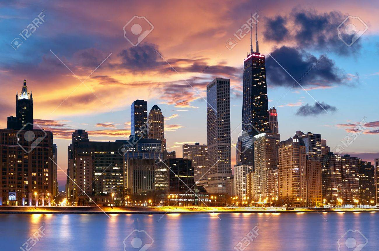 chicago skyline chicago downtown