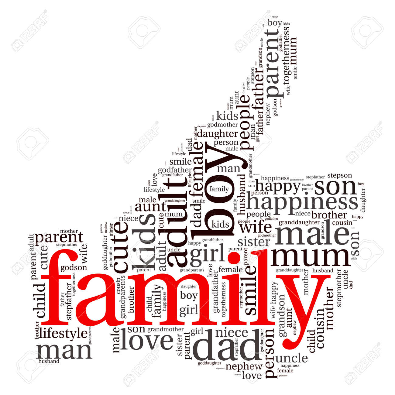 family info text graphics