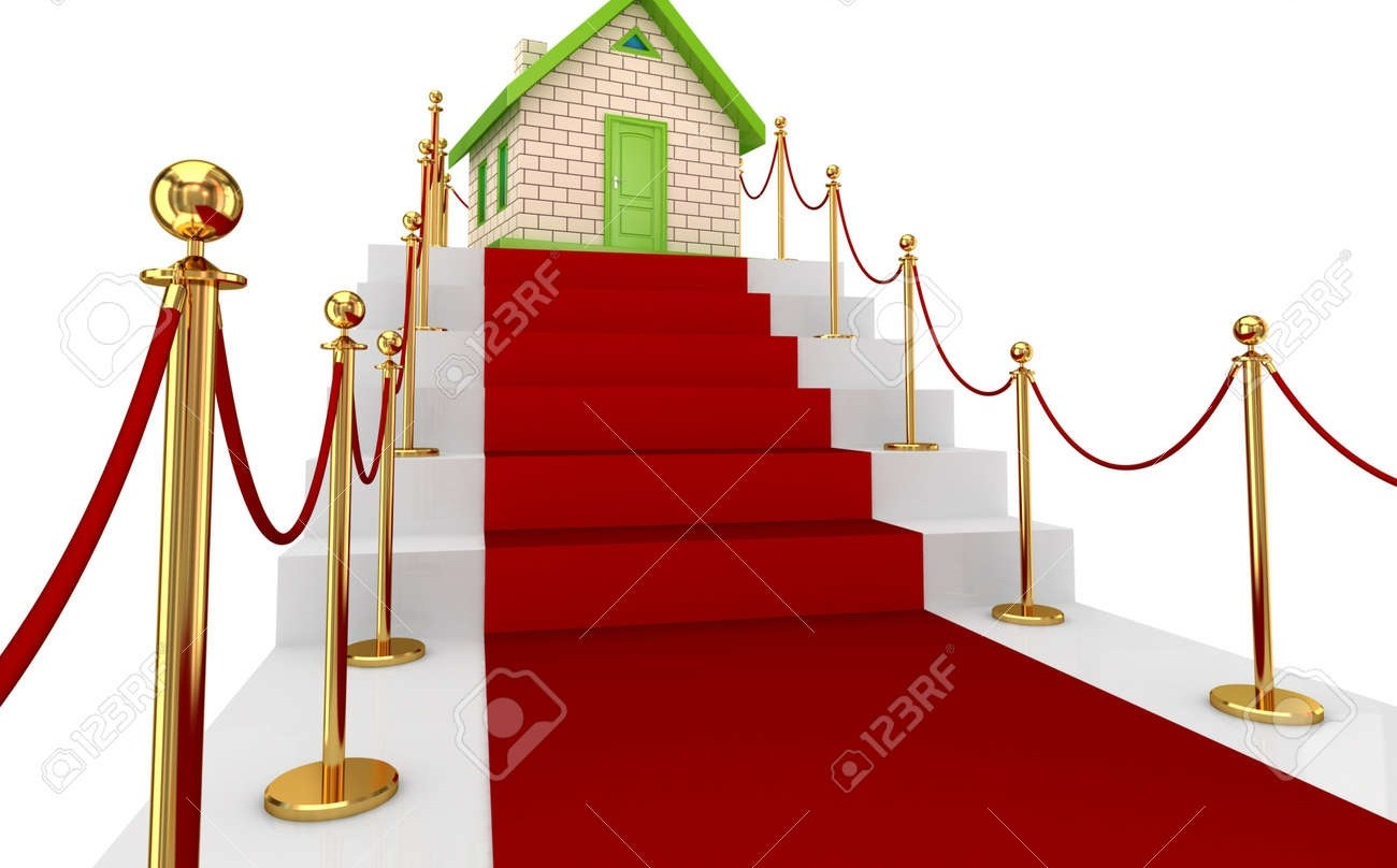 Red Carpet On A Stairs And Small House Isolated On White   Small Carpet For Stairs   Stair Case   Carpet Runners   Stair Tread   Berber Carpet   Hardwood