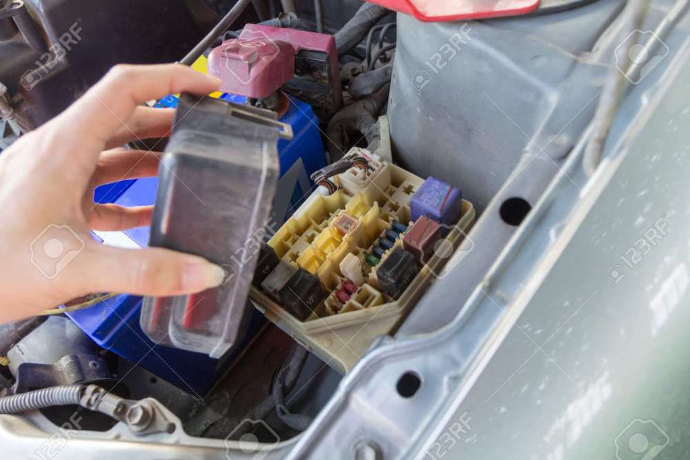 medium resolution of the man opening fuse box of old car stock photo picture and royaltystock photo the