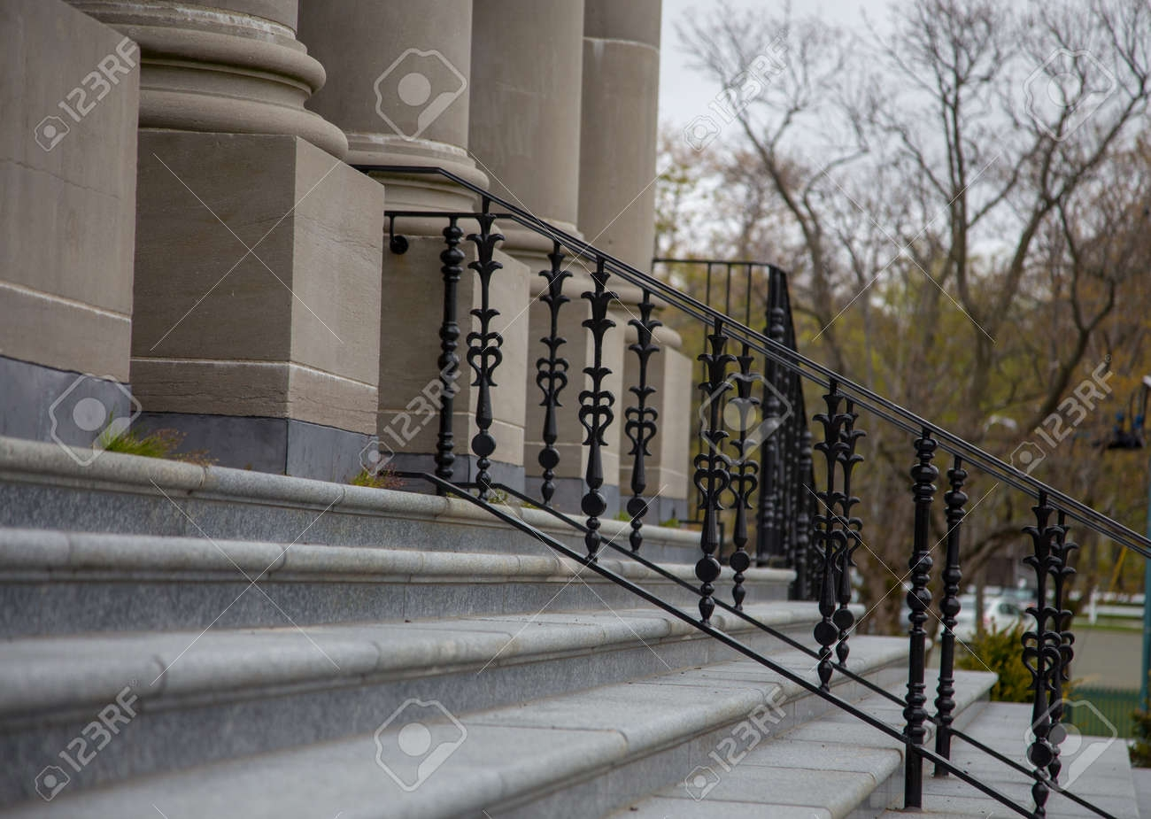 Steel Railing And Steps Stock Photo Picture And Royalty Free   Steel Railing For Steps   Modular   Wooden   Terrace   Modern Farmhouse   Loha