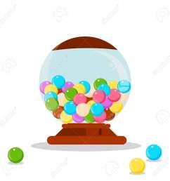 vector gumball machine illustration gumball bubblegum machine dispenser vector illustration funny gumball [ 1300 x 1300 Pixel ]