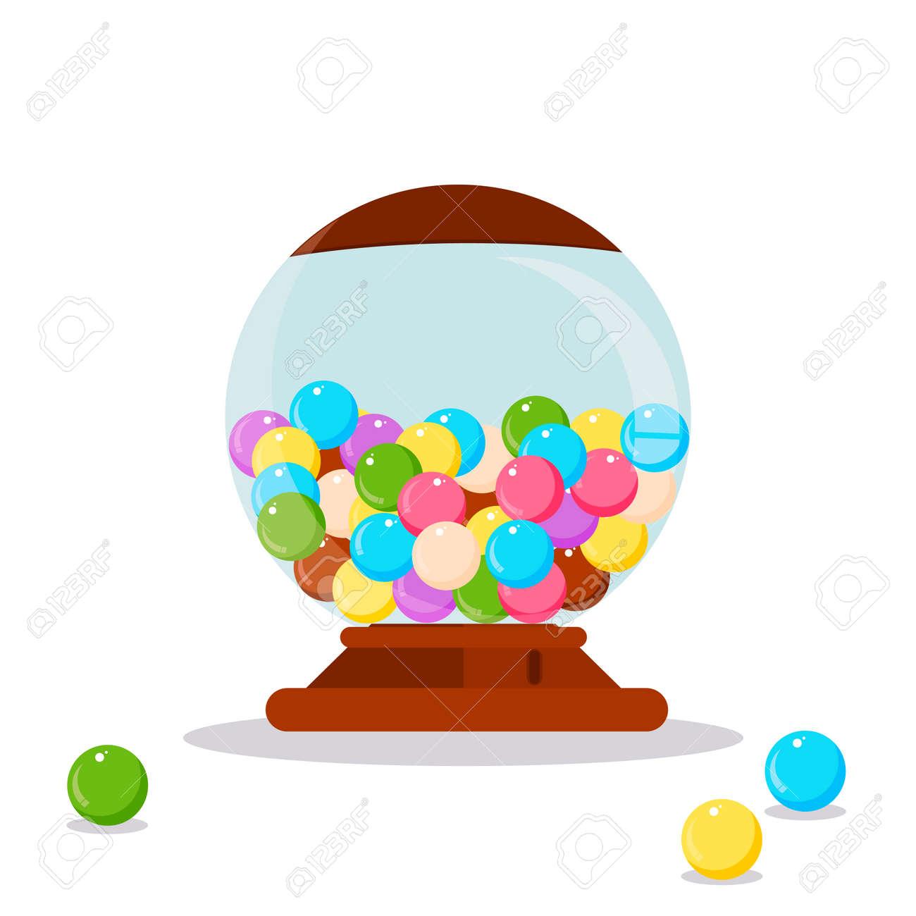 hight resolution of vector gumball machine illustration gumball bubblegum machine dispenser vector illustration funny gumball