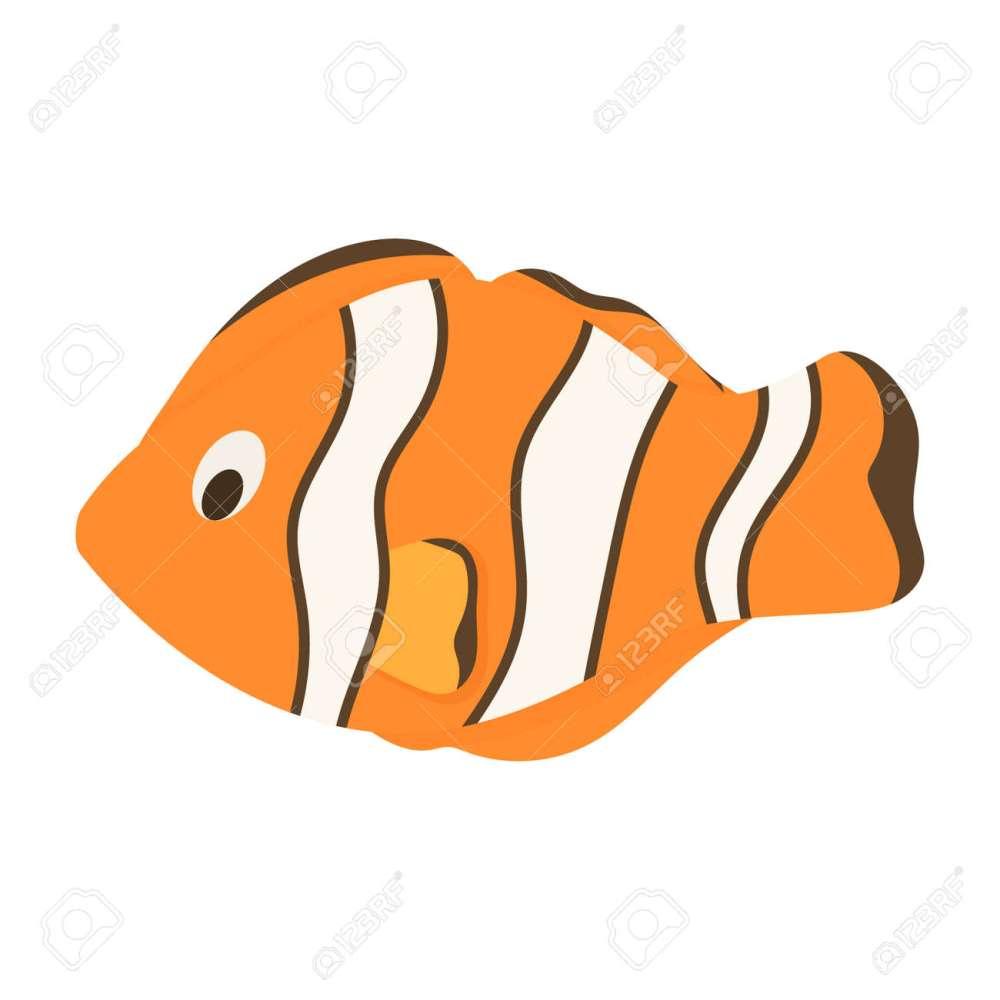 medium resolution of nemo fish clownfish marine anemone sea animal vector illustration underwater ocean clown orange fish