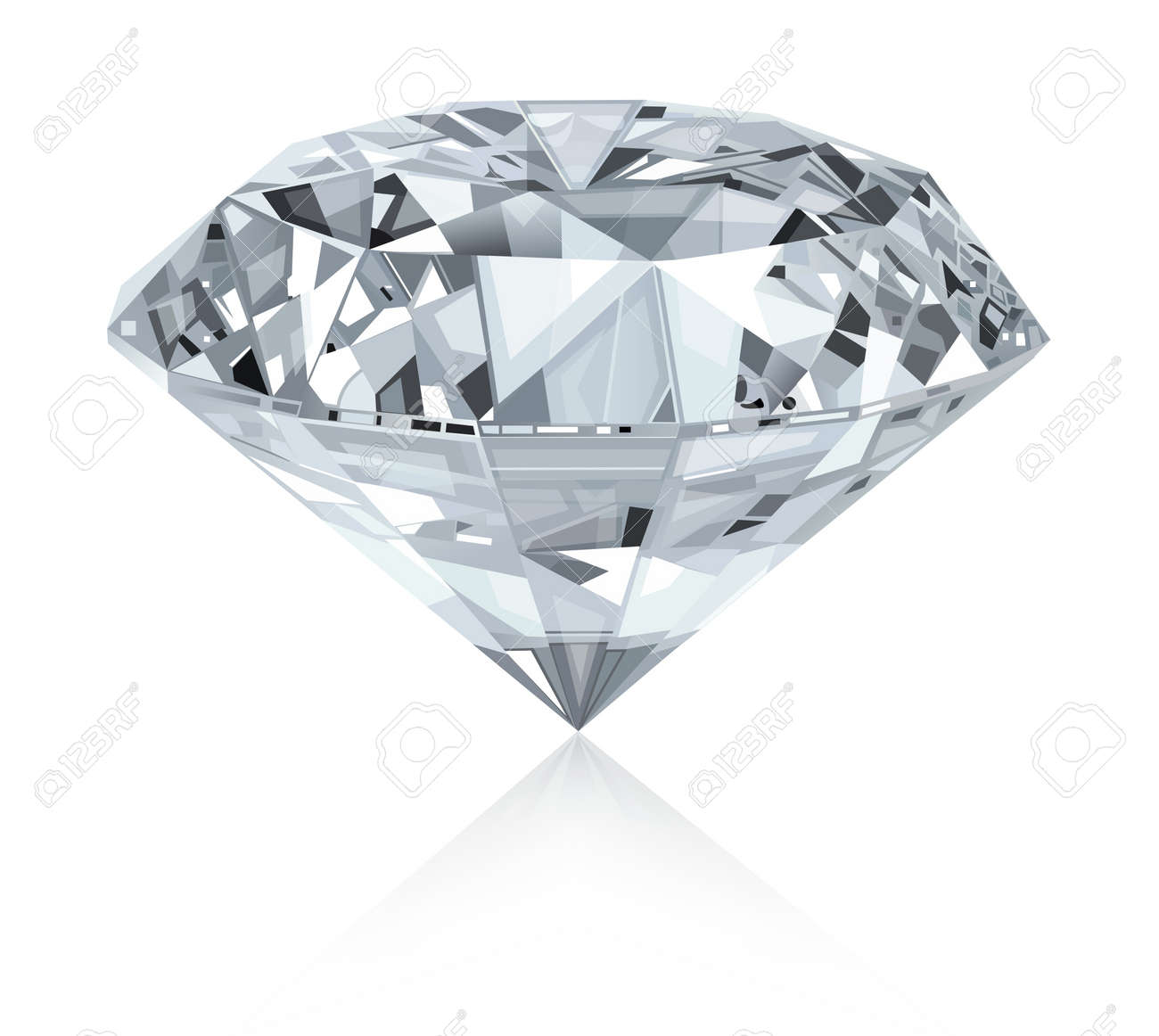 classic and realistic diamond