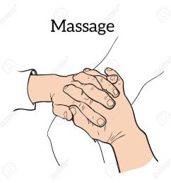 hand massage back massage body massage stock vector 54122857 [ 1300 x 1300 Pixel ]