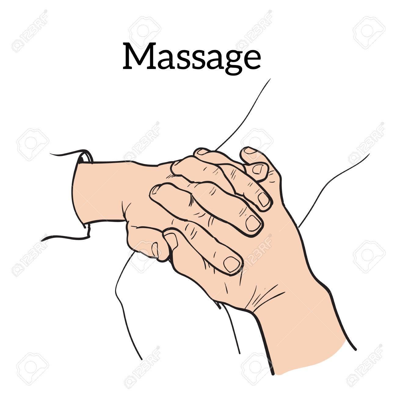 hight resolution of hand massage back massage body massage stock vector 54122857