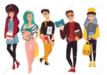 Set Of Modern Hipster College University Students Boys And Royalty Free Cliparts Vectors And Stock Illustration Image 95381860