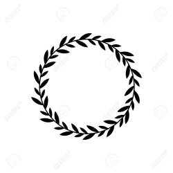 Black Wreath Circle With Branch Leaves Champion Award Decoration Royalty Free Cliparts Vectors And Stock Illustration Image 122281001