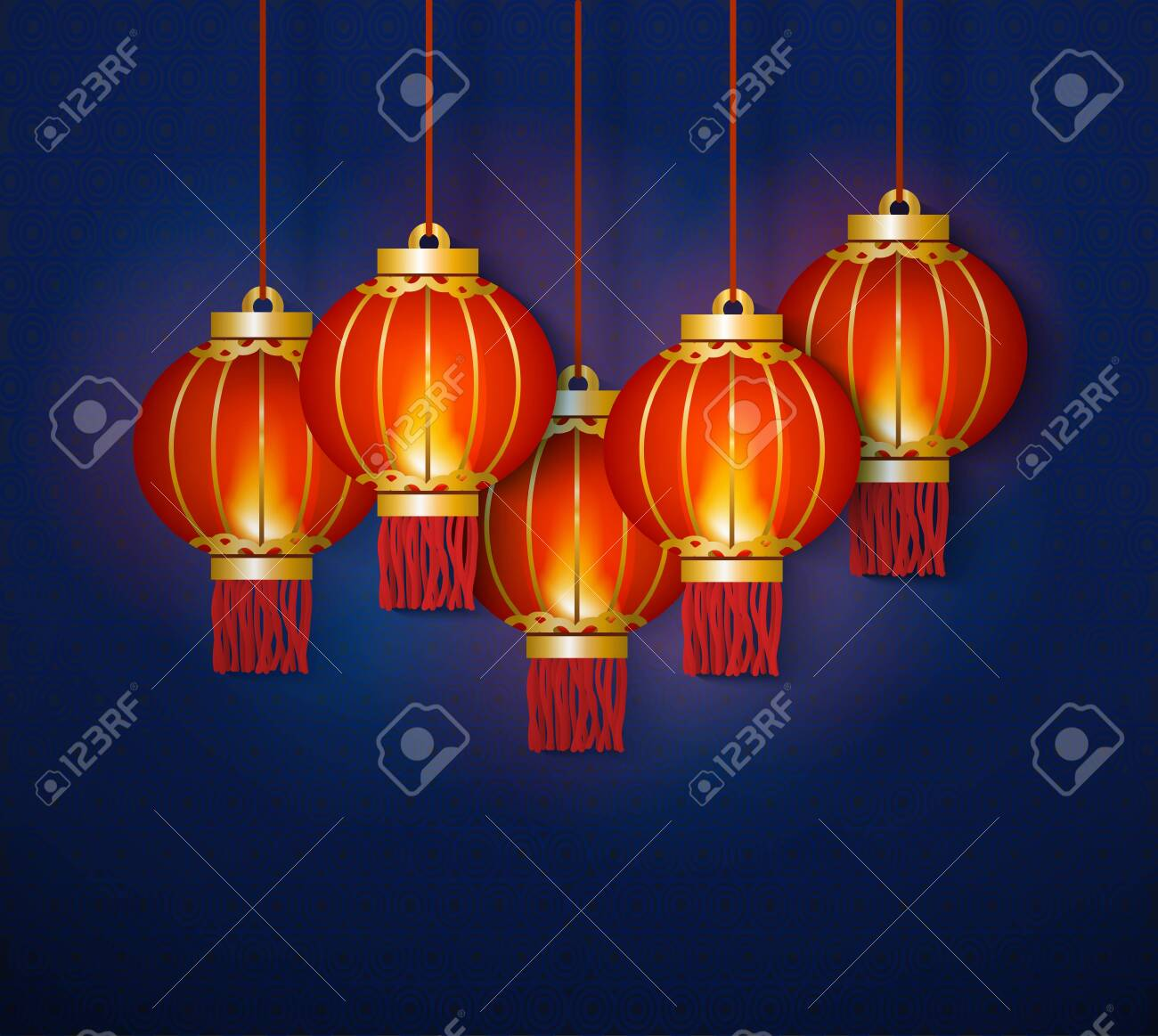 glowing red traditional chinese