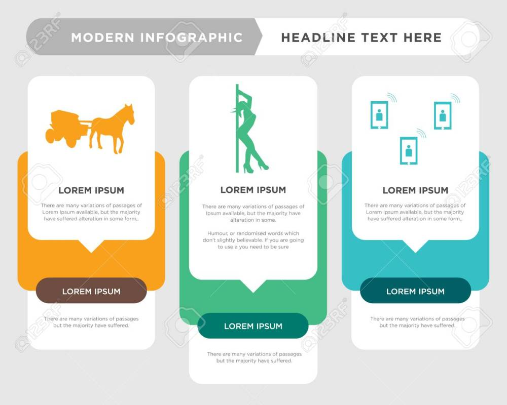 medium resolution of telecom business infographic template the concept is option step with full color icon can be