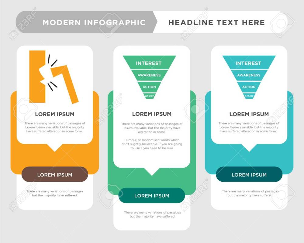 medium resolution of marketing funnel on white background in black business infographic template the concept is