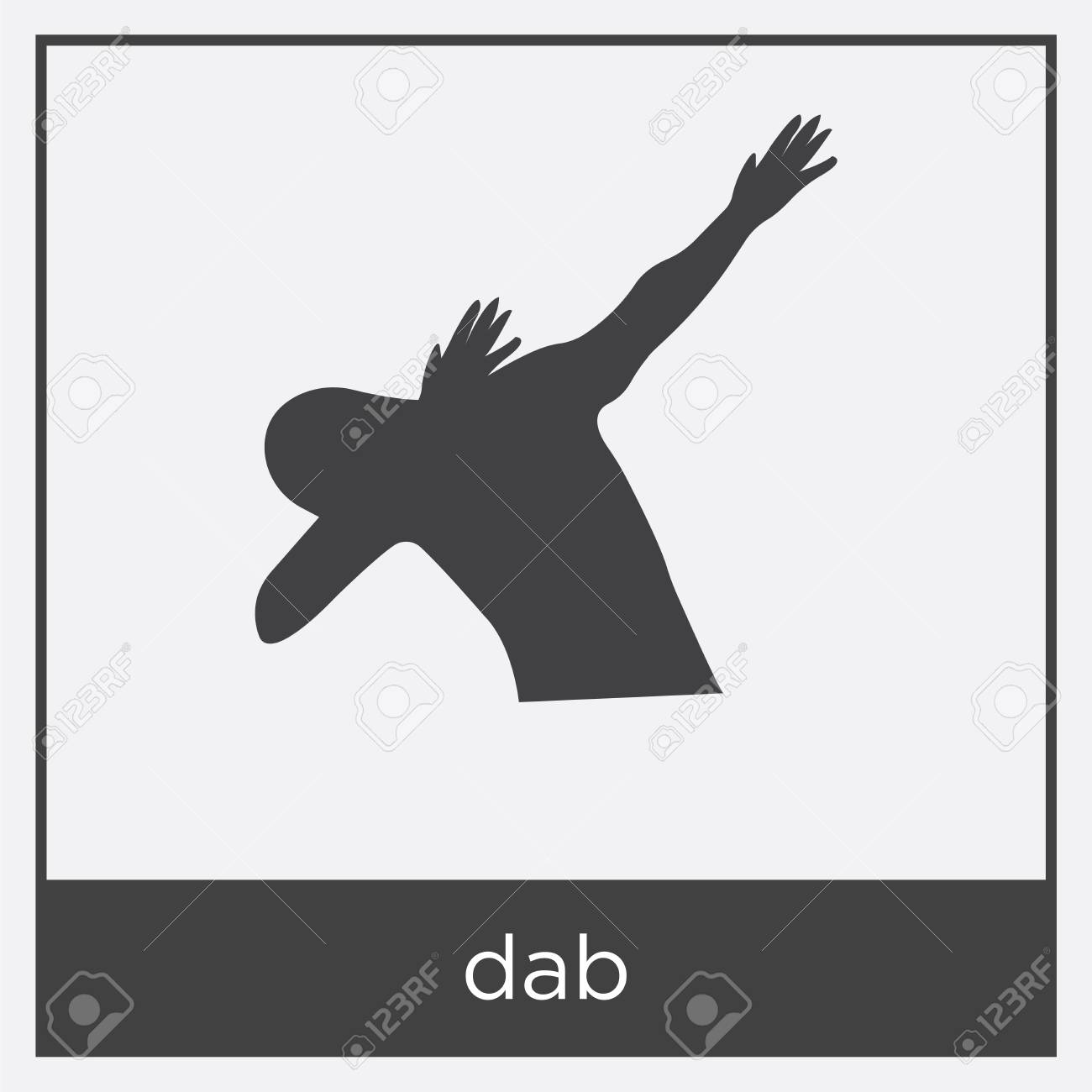 dab icon isolated on