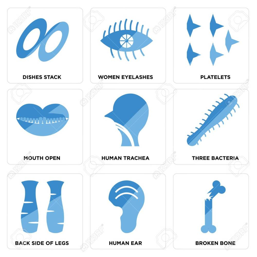 medium resolution of set of 9 simple editable icons such as broken bone human ear back side